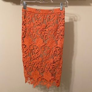 NWT, Alice and Olivia lace pencil skirt